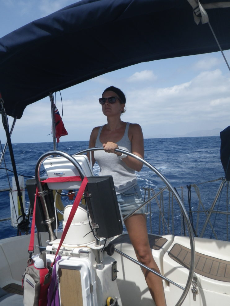 steering a sailboat