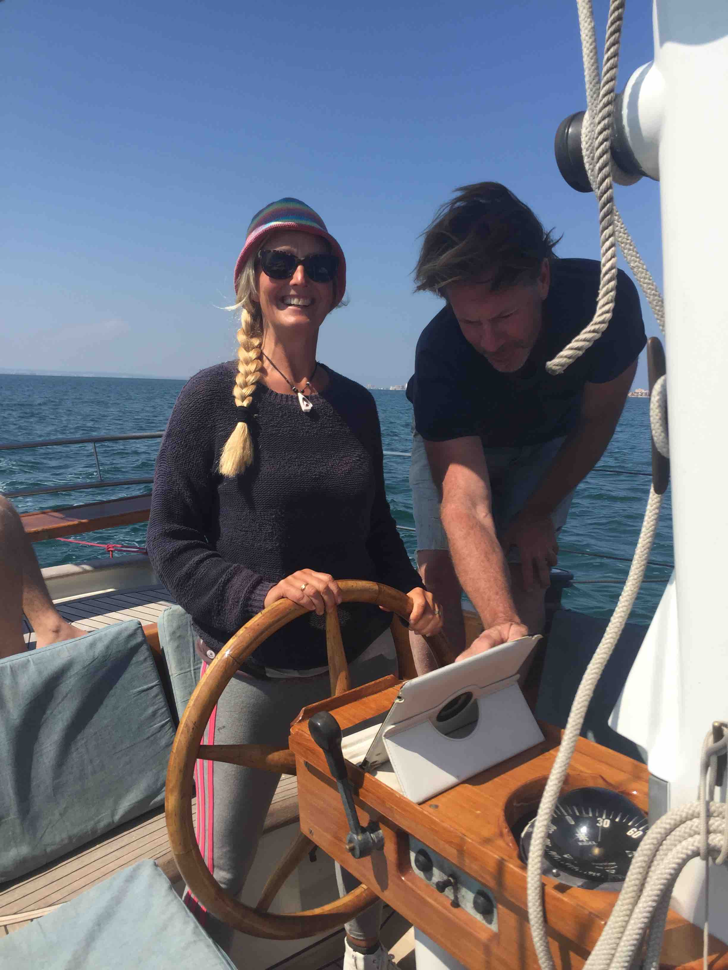 Helena at the helm