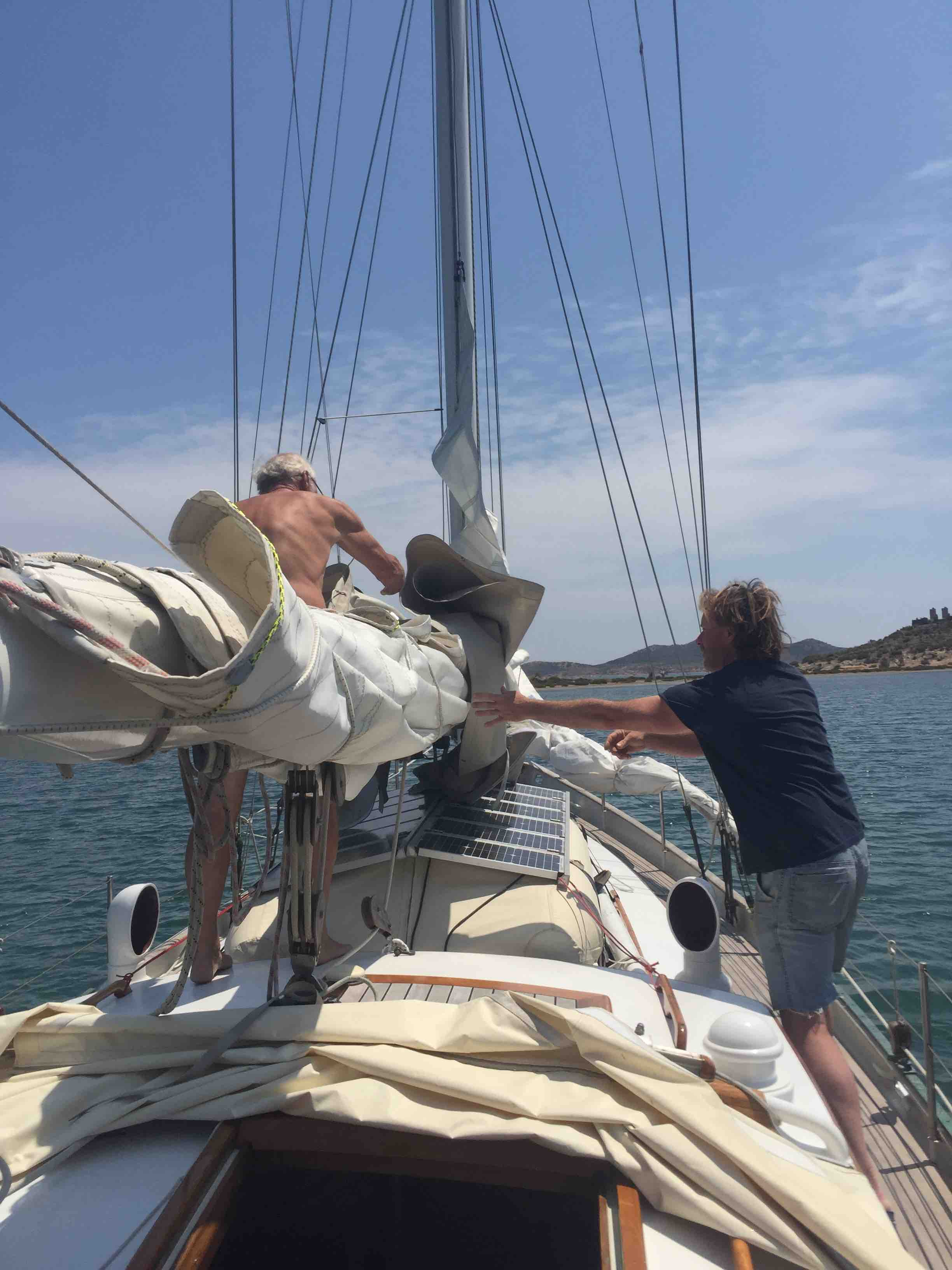Working the sails